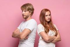 Η σύγκρουση του ζεύγους Στοκ φωτογραφία με δικαίωμα ελεύθερης χρήσης