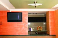 Η σύγχρονη υποδοχή στο ξενοδοχείο πολυτελείας Στοκ Εικόνες