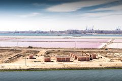 Η σύνδεση του καναλιού Σουέζ στη Μεσόγειο στο λιμένα Sa Στοκ Εικόνα