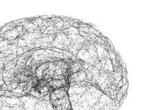 Η σύνδεση ψηφιακών στοιχείων και δικτύων του ανθρώπινου εγκεφάλου απομόνωσε στο άσπρο υπόβαθρο υπό μορφή τεχνητής νοημοσύνης για διανυσματική απεικόνιση
