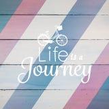 Η σύνθετη εικόνα της ζωής είναι λέξεις ταξιδιών Στοκ Εικόνες