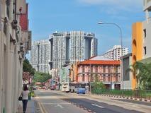 Η σύνδεση του δρόμου νότιων γεφυρών με την ανώτερη διαγώνια οδό στη Σιγκαπούρη ` s Chinatown στοκ εικόνες