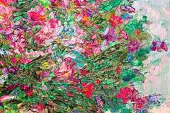 Η σύσταση της ελαιογραφίας, τέχνη χρωμάτισε το χρώμα εικόνας, χρώμα, καμβάς, Στοκ Φωτογραφία