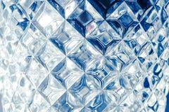 Η σύσταση τοίχων γυαλιού, αφαιρεί το μπλε υπόβαθρο Στοκ Εικόνα