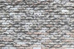 Η σύσταση του παλαιού ξεπερασμένου τουβλότοιχος αποσυντέθηκε και σπασμένος Στοκ Εικόνες