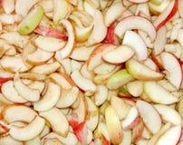 Η σύσταση των φετών της Apple Στοκ φωτογραφία με δικαίωμα ελεύθερης χρήσης