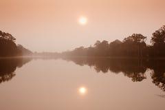 Η τάφρος σε Angkor Wat Στοκ εικόνα με δικαίωμα ελεύθερης χρήσης