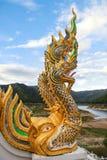 Η τέχνη θρησκείας του αγάλματος Naga Στοκ Εικόνες