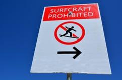 Η τέχνη κυματωγών απαγόρευσε το σημάδι Στοκ Εικόνες