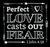 Η τέλεια αγάπη πετά έξω το φόβο Απεικόνιση αποθεμάτων