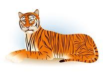 Η τίγρη βρίσκεται Στοκ Φωτογραφία