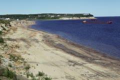 Η τακτοποίηση Zhigansk στη Λένα River Στοκ Φωτογραφία