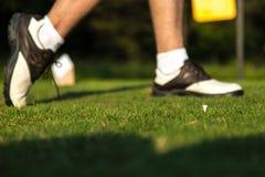 Η ταλάντευση γκολφ τελειώνει Στοκ Φωτογραφία