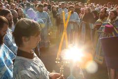 η τελετή δεσμεύει rostislav Στοκ Φωτογραφίες