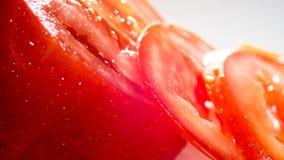 Η τεμαχισμένη ντομάτα στο άσπρο υπόβαθρο Στοκ Εικόνα