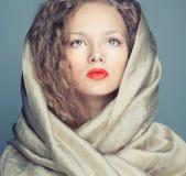 Η τετραγωνική εικόνα του κοριτσιού Στοκ φωτογραφίες με δικαίωμα ελεύθερης χρήσης