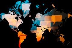 Η τεχνολογία διασυνδέει η καθεμία στο πλανήτη Γη Στοκ Εικόνες