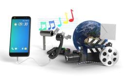 Η τεχνολογία χαρακτηρίζει το υπόβαθρο έννοιας, τρισδιάστατη απόδοση Στοκ φωτογραφία με δικαίωμα ελεύθερης χρήσης