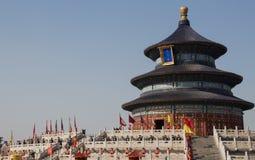 Η τελετή λατρείας ουρανού στο ναό του ουρανού στο Πεκίνο στοκ φωτογραφία
