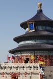 Η τελετή λατρείας ουρανού στο ναό του ουρανού στο Πεκίνο στοκ φωτογραφία με δικαίωμα ελεύθερης χρήσης