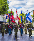 Η τελετή σημαιών Στοκ φωτογραφία με δικαίωμα ελεύθερης χρήσης