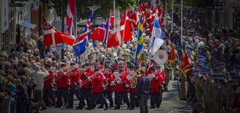 Η τελετή σημαιών Στοκ φωτογραφίες με δικαίωμα ελεύθερης χρήσης