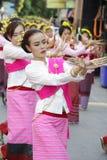 Η τελετουργική τελετή λουσίματος για Phra που Hariphunchai Chedi Στοκ φωτογραφίες με δικαίωμα ελεύθερης χρήσης