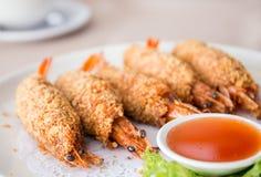 Η τηγανισμένη γαρίδα, άτομο Tod kung, είναι τα διάσημα ταϊλανδικά τρόφιμα Στοκ φωτογραφία με δικαίωμα ελεύθερης χρήσης