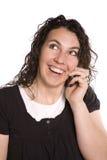 η τηλεφωνική γυναίκα έκφρ&alph Στοκ εικόνα με δικαίωμα ελεύθερης χρήσης