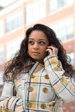 η τηλεφωνική γυναίκα της Στοκ φωτογραφία με δικαίωμα ελεύθερης χρήσης