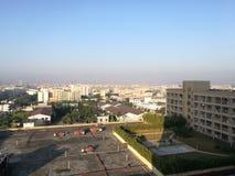 Η την άποψη πρωινού από το ξενοδοχείο κατά ταξίδι στην πόλη Dongguan Στοκ Εικόνες