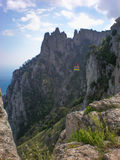 Η της Κριμαίας ακτή Yalta Ropeway στοκ εικόνα με δικαίωμα ελεύθερης χρήσης