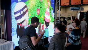 Η τηλεοπτική επίδειξη τοίχων κατά τη διάρκεια NAB παρουσιάζει έκθεση του 2014 στο Λας Βέγκας, ΗΠΑ, απόθεμα βίντεο