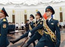 Η τιμημένη φρουρά των στρατευμάτων Υπουργείου εσωτερικών θεμάτων της Ρωσίας Οι ειδικοί στρατιωτικοί σχηματισμοί έχουν ως σκοπό να Στοκ Εικόνες