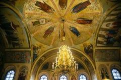 Η τοιχογραφία της θρησκευτικής ιστορίας για τον Ιησού Χριστού Στοκ εικόνα με δικαίωμα ελεύθερης χρήσης
