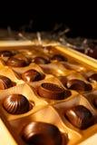 η τομή σοκολάτας καραμελών ανασκόπησης απομόνωσε το λευκό Στοκ φωτογραφία με δικαίωμα ελεύθερης χρήσης