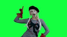 Η τοποθέτηση mime όπως ένα πρότυπο μόδας απόθεμα βίντεο