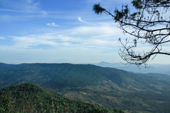 Η τοπ άποψη του βουνού Kao Kho, Ταϊλάνδη Στοκ εικόνα με δικαίωμα ελεύθερης χρήσης