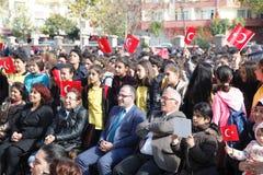 Η Τουρκία γίνεται στους σχολικούς εορτασμούς στοκ φωτογραφία με δικαίωμα ελεύθερης χρήσης