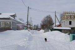 Η του χωριού οδός Βόρειο χωριό Ricasoli Στοκ Φωτογραφία