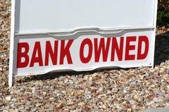 η τράπεζα ήταν κύρια του σημαδιού ιδιοκτησίας Στοκ Φωτογραφία