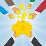 η τράπεζα δίνει piggy Στοκ εικόνα με δικαίωμα ελεύθερης χρήσης