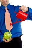 η τράπεζα μπορεί να επανδρώσει piggy Στοκ Φωτογραφία