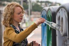 Η τράπεζα μπουκαλιών ανακυκλώνει 002 Στοκ Εικόνες