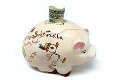η τράπεζα ράγισε piggy Στοκ Εικόνες