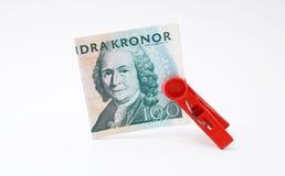 η τράπεζα στέφει το νόμισμα τη δανική Δανία Ευρώπη piggy Νόμισμα της Δανίας Στοκ Φωτογραφία