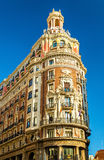 Η τράπεζα της Βαλένθια, ένα ιστορικό κτήριο που χτίζεται το 1942 - Ισπανία Στοκ Φωτογραφίες