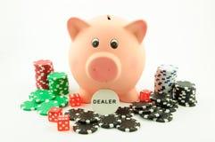 Η τράπεζα Piggy είναι ο έμπορος Στοκ Εικόνες