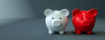 Η τράπεζα Piggy σώζει την επένδυση χρημάτων Στοκ εικόνες με δικαίωμα ελεύθερης χρήσης