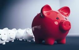 Η τράπεζα Piggy σώζει την επένδυση χρημάτων Στοκ Εικόνες